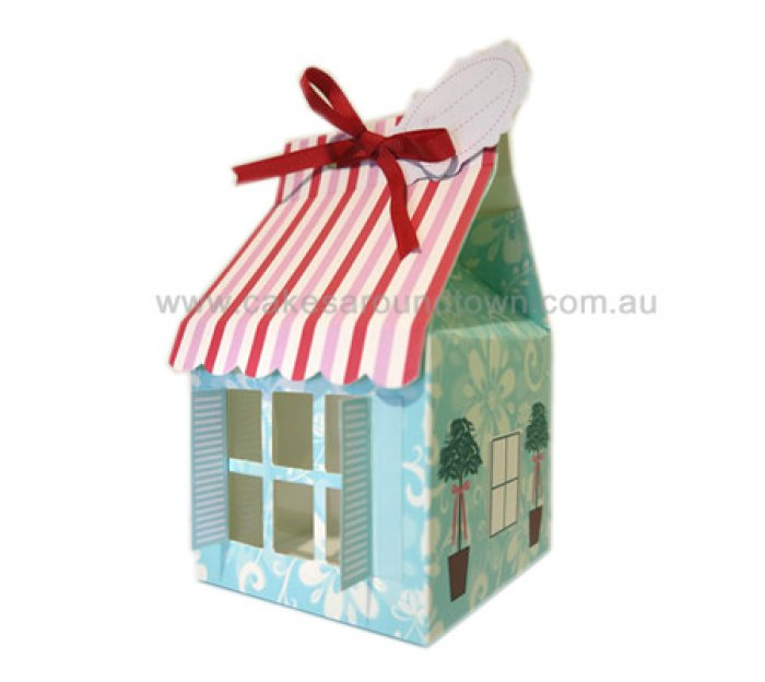 House with Shutters, window Cupcake box holds 1 STANDARD (3 pack)