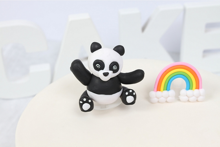 Claydough Panda Cake Topper