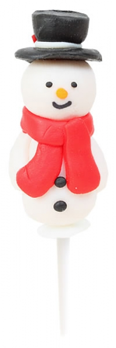 Snowman with Scarf Claydough Cake Topper