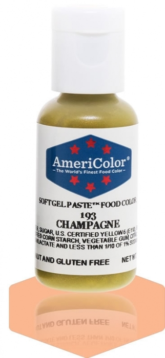 Americolor SMALL Soft Gel Paste .75oz (22.5ml) - CHAMPAGNE