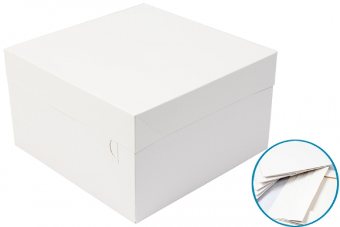 Cake Box - White 12 x 12 x 6 (Box of 50)