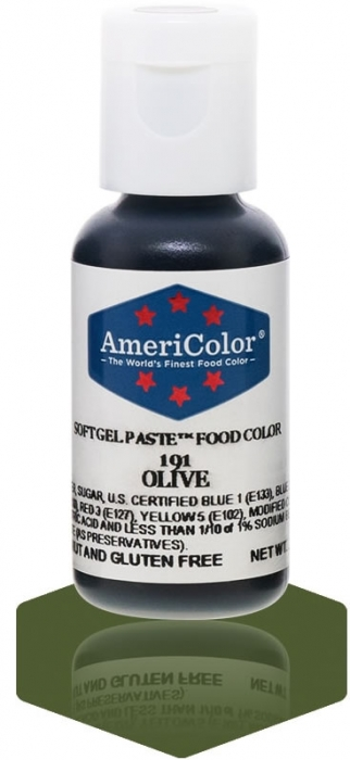 Americolor SMALL Soft Gel Paste .75oz (22.5ml) - OLIVE