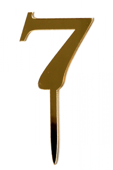Acrylic Gold Mirror Number 7 Cake Topper