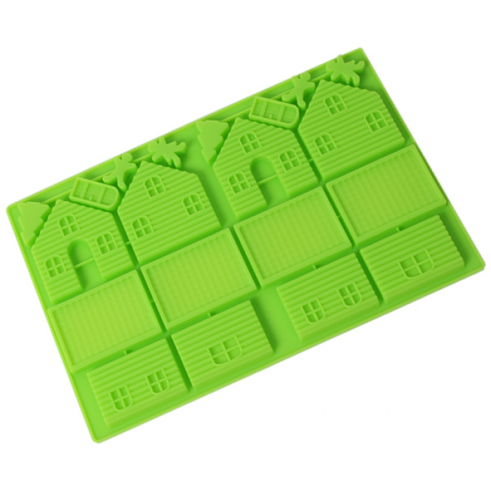 Small Gingerbread House silicone Mould (2 set)