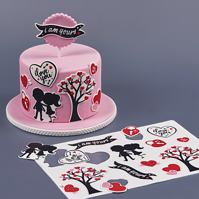 Pre-Cut Edible Plaque Cut Outs - LOVE