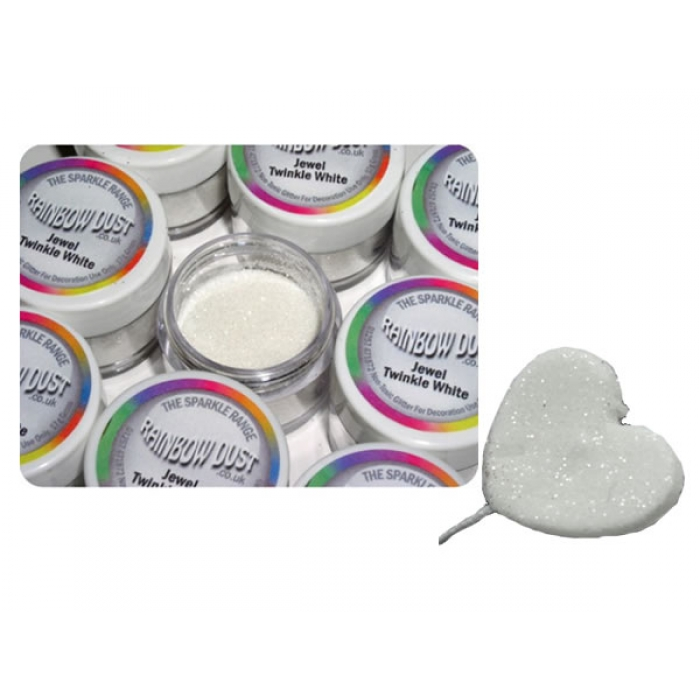 Jewel Twinkle White - dust and glitters