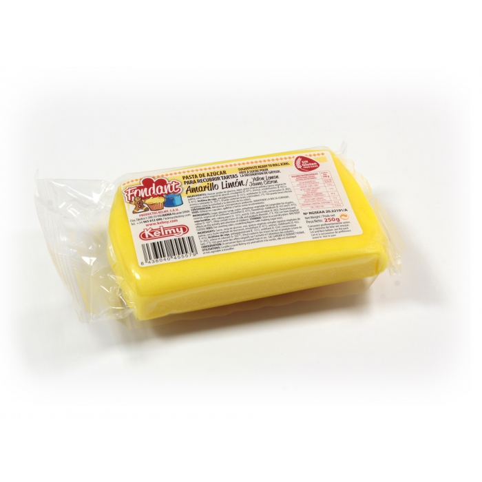 Kelmy Fondant Lemon Yellow - 250g