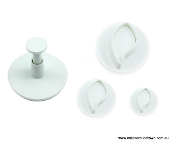 Leaf or Petal Plunger Cutter Set of 3