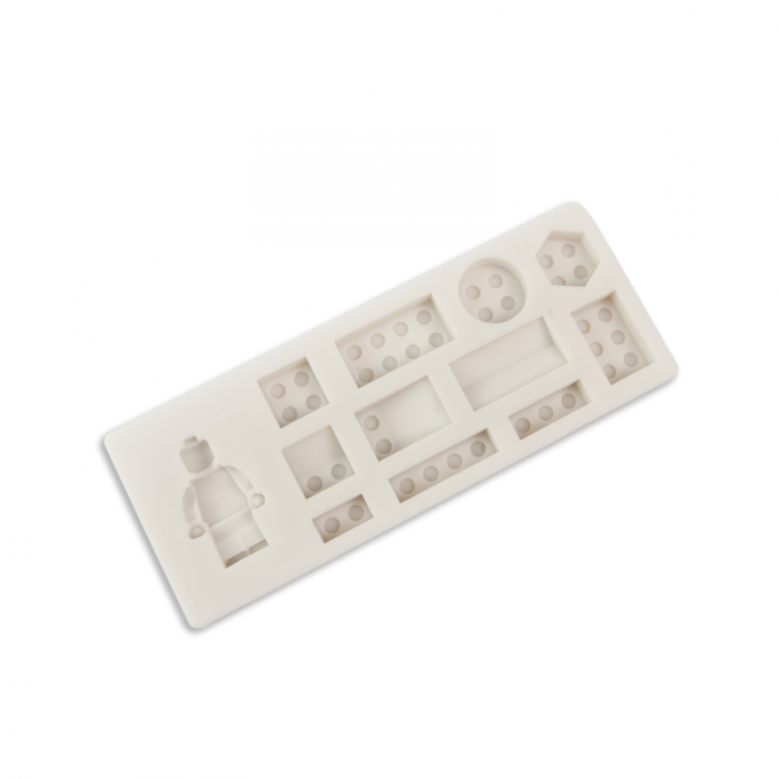 Lego Man and Building Blocks Silicone Mould