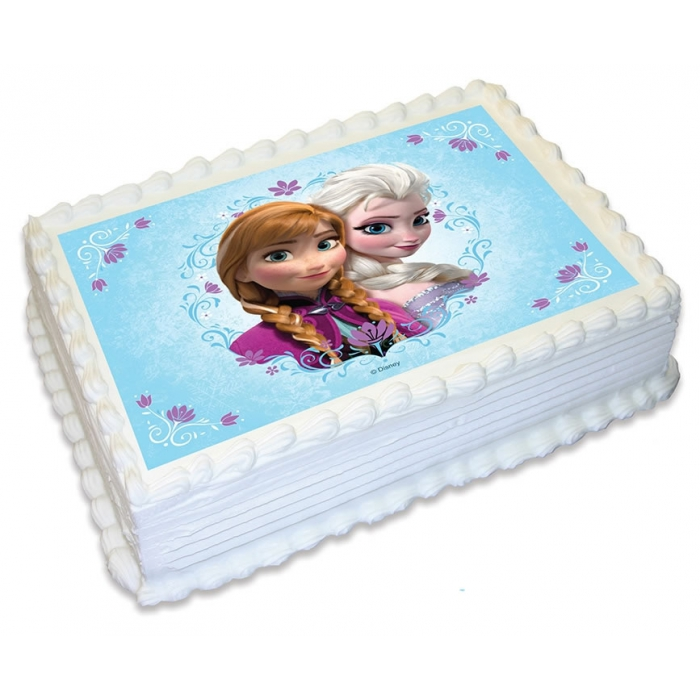 Edible Cake Pictures Frozen : Licensed Disney Frozen Disc Elsa and Anna