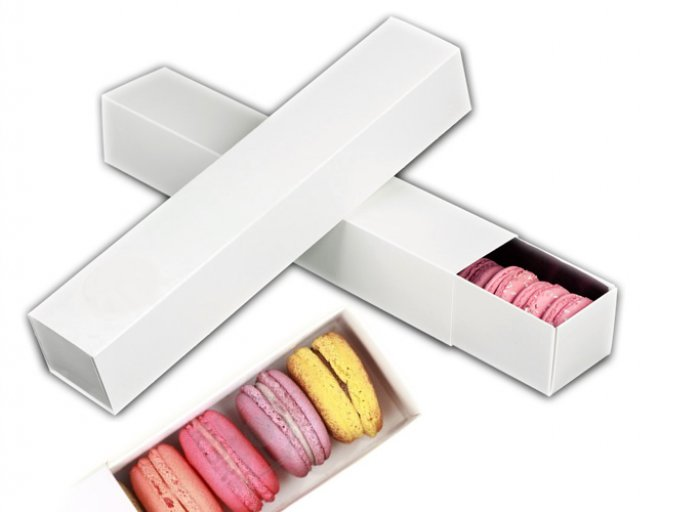 Macaron White Box with Sleeve (pack of 5)
