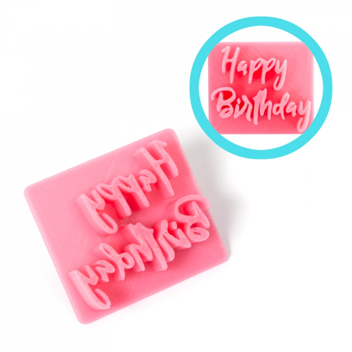 Magic Press - Happy Birthday Embossing Stamp