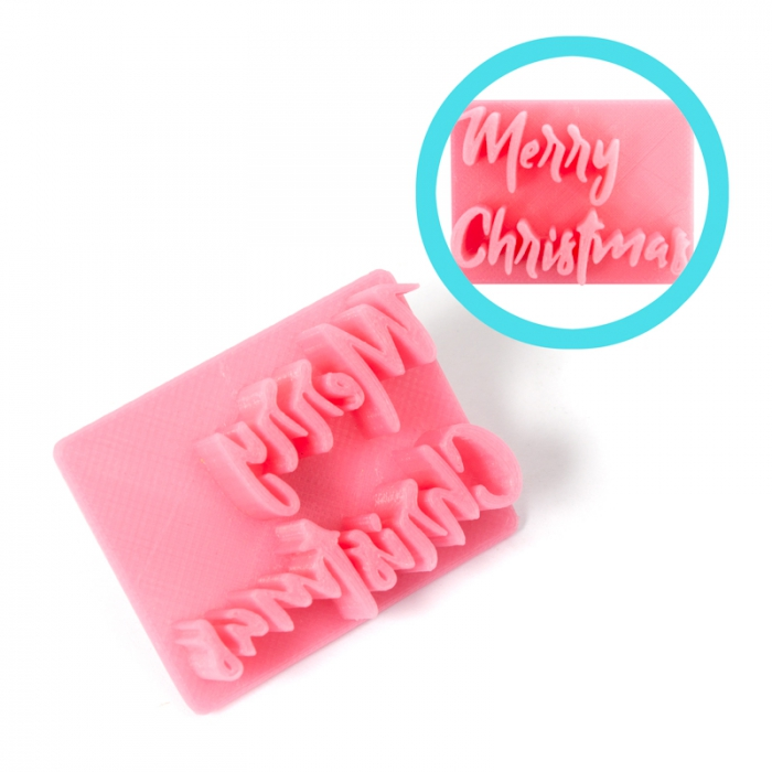 Magic Press - Merry Christmas Embossing Stamp
