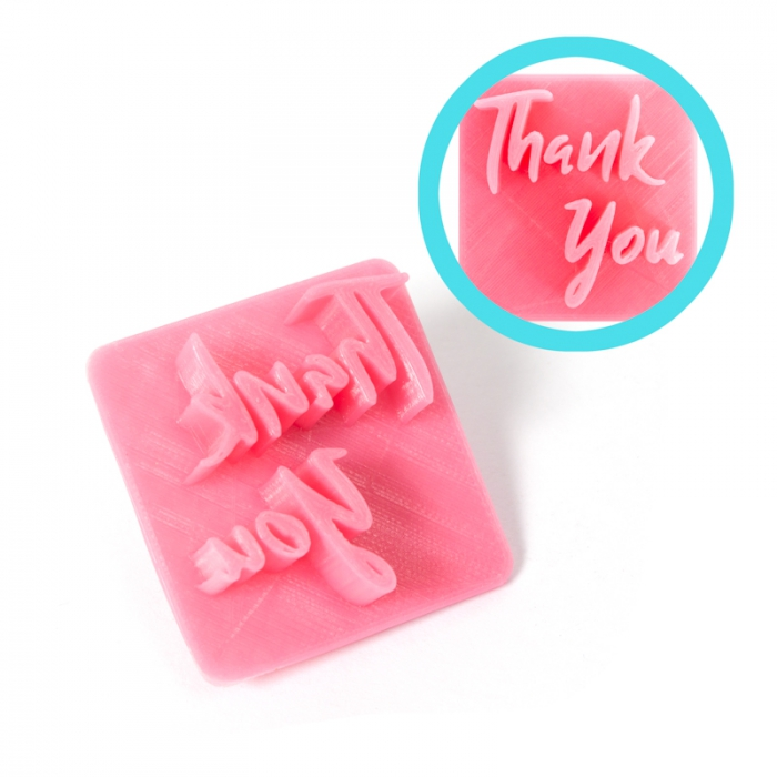 Magic Press - Thank You Embossing Stamp