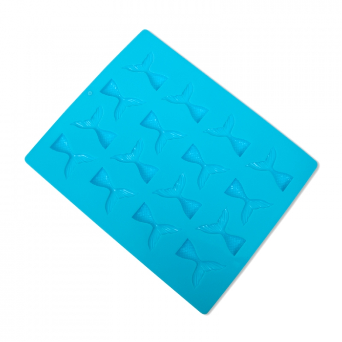 16 Mini Mermaid Tails Silicone Mould