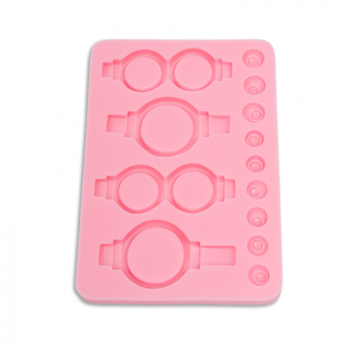 Minion Eyes and Glasses Silicone Mould
