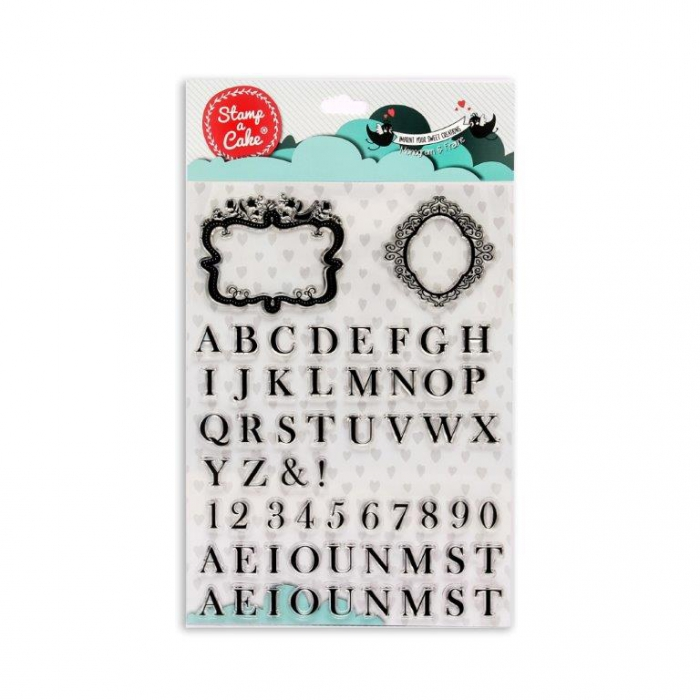 MONOGRAM & FRAME Stamp - Stamp a Cake - DISCONTINUED