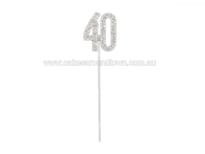 40 Diamante Diamond Cake Pin