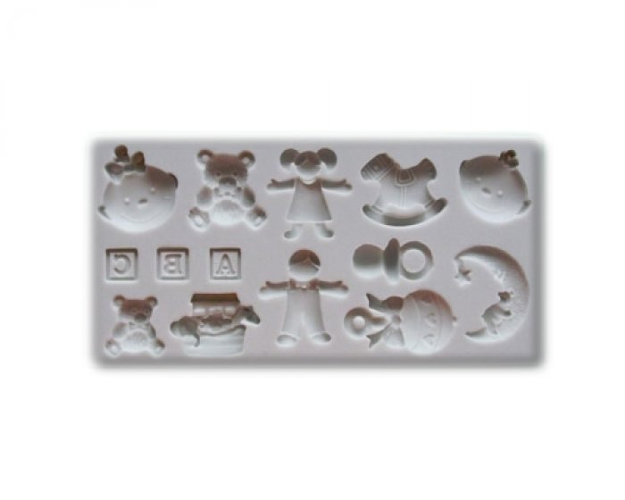 Baby Nursery Shapes Silicone Sugarcraft Mould