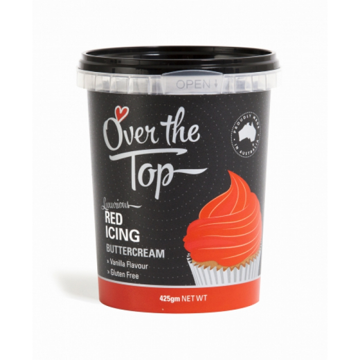 Over The Top Buttercream 425g - RED