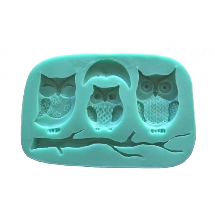 Owl, Moon and Branch Silicone Mould - DISCONTINUED