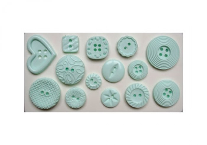 Patterned Buttons Silicone Sugarcraft Mould