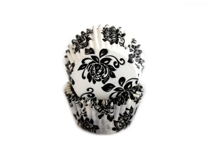 Black and White Peony STANDARD Cupcake Cases (40)
