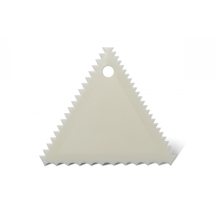 Plastic Triangular Comb Scraper (Triple sided)