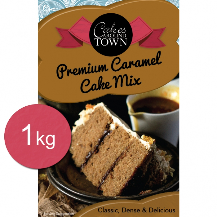 Premium Caramel Cake Mix 1kg by Bakels - BEST BEFORE
