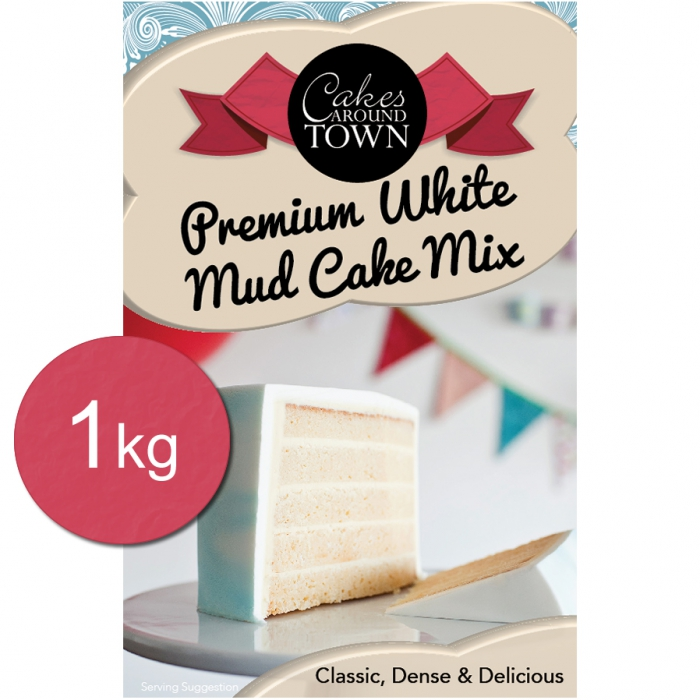 Premium WHITE Mud Cake Mix by Bakels 1Kg