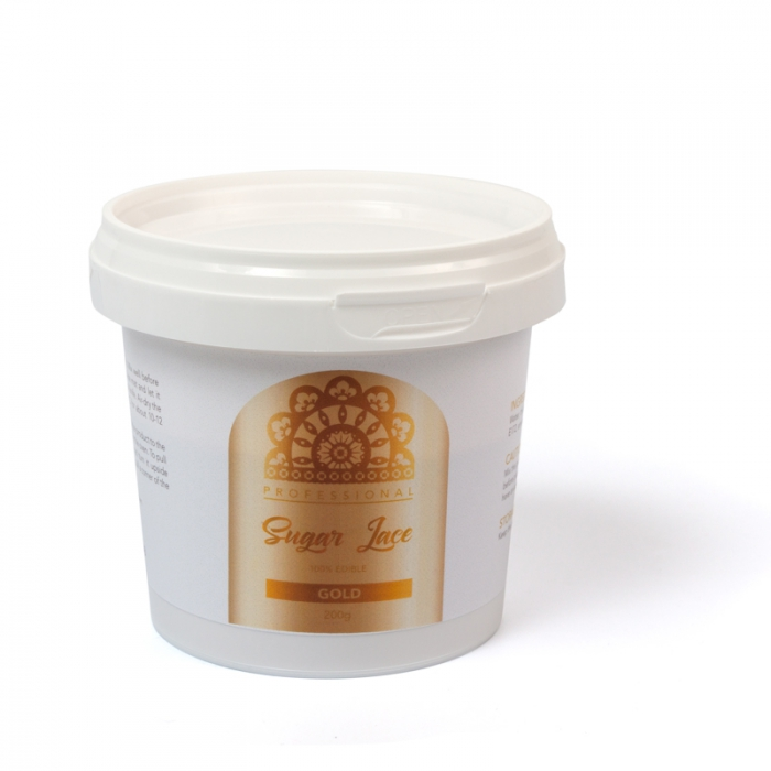 Professional Sugar Cake Lace PREMIX - PEARLISED GOLD 200g - BEST BEFORE