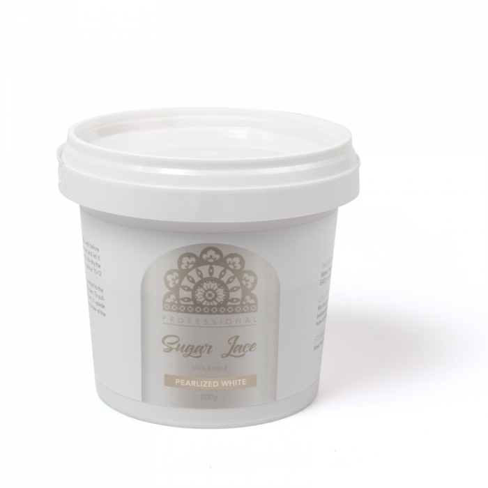 Professional Sugar Cake Lace PREMIX - PEARLISED WHITE 200g