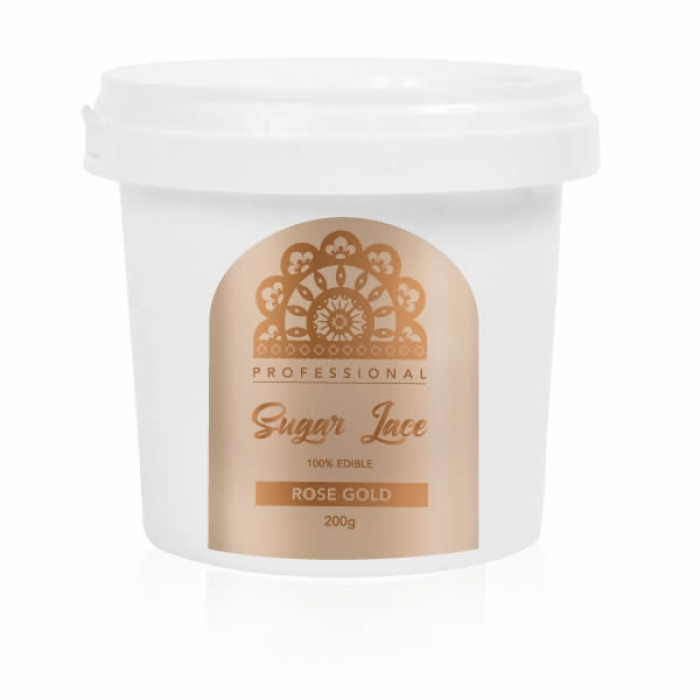 Professional Sugar Cake Lace PREMIX - ROSE GOLD 200g - BEST BEFORE