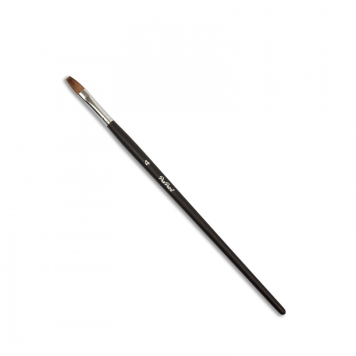 Pro Paint Superior Kolinsky Flat Tapered Brush - No 4