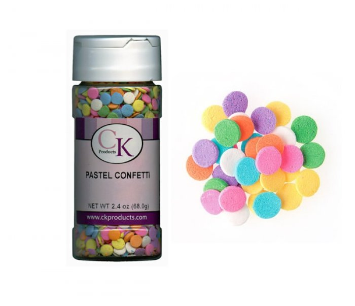 EDIBLE CONFETTI - Pastel Confetti - 68g Bottle