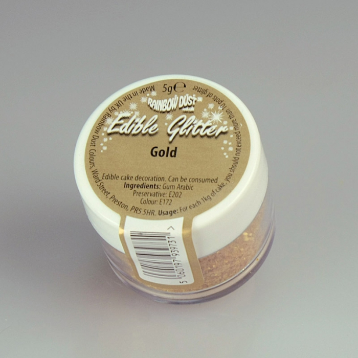 Rainbowdust Edible Glitter - GOLD - DISCONTINUED