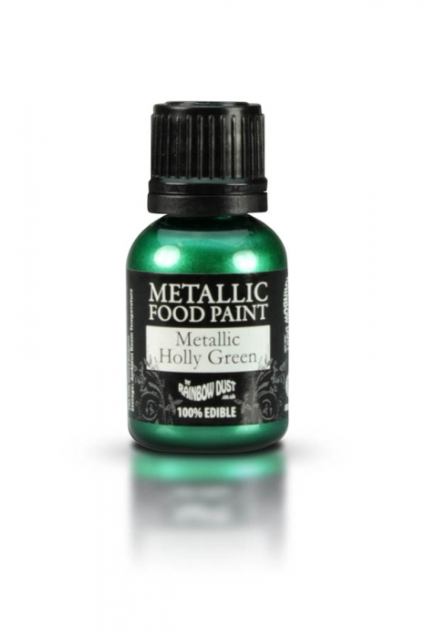 Rainbowdust Edible Metallic Paint - HOLLY GREEN - DISCONTINUED