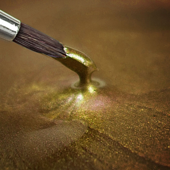 Rainbowdust edible metallic paint light gold for How to make metallic paint