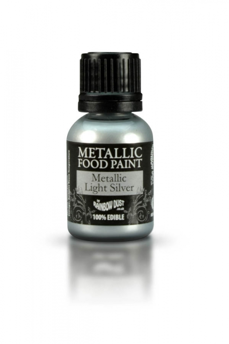 Rainbowdust Edible Metallic Paint - LIGHT SILVER