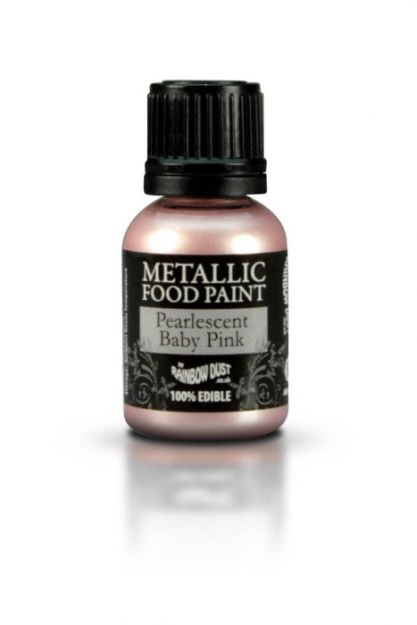 Rainbowdust Edible Metallic Paint - PEARLESCENT BABY PINK