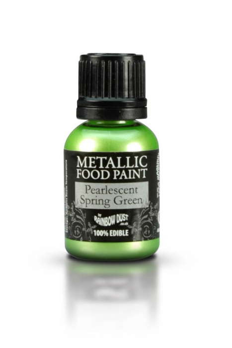 Rainbowdust Edible Metallic Paint - PEARLESCENT SPRING GREEN - DISCONTINUED