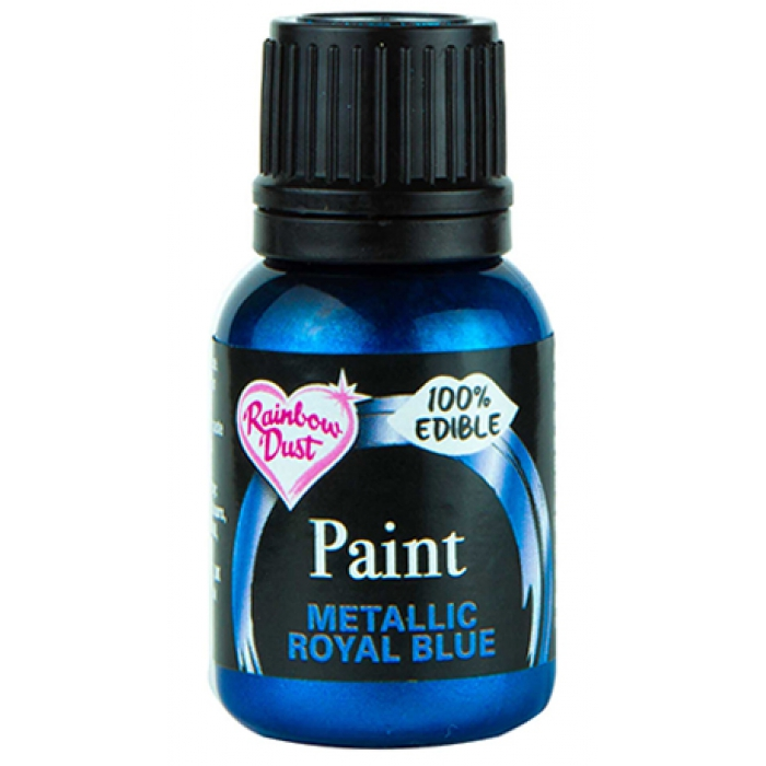 Rainbowdust Edible Metallic Paint - ROYAL BLUE