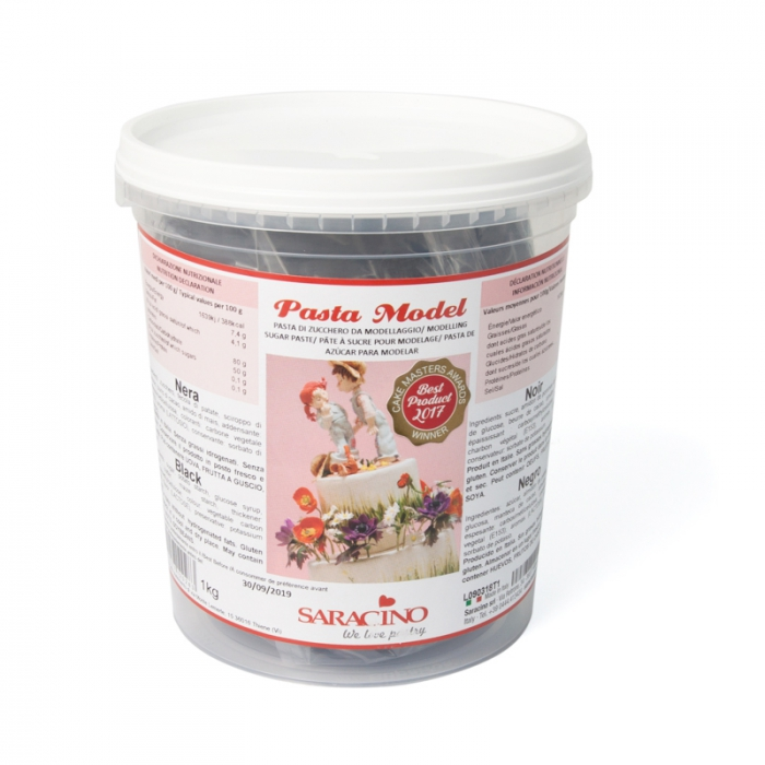 Saracino BLACK Modelling Paste 1kg - DISCONTINUED