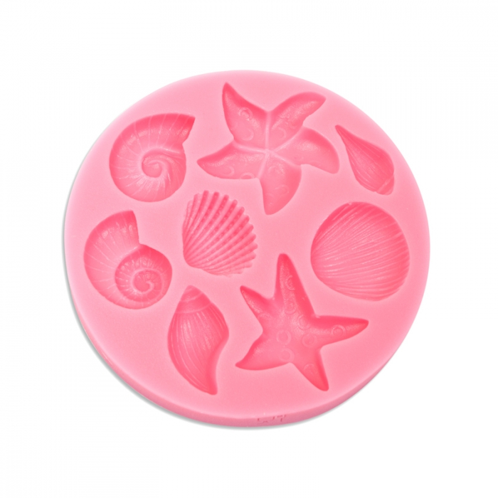 Shells & Starfish Silicone Sugarcraft Mould