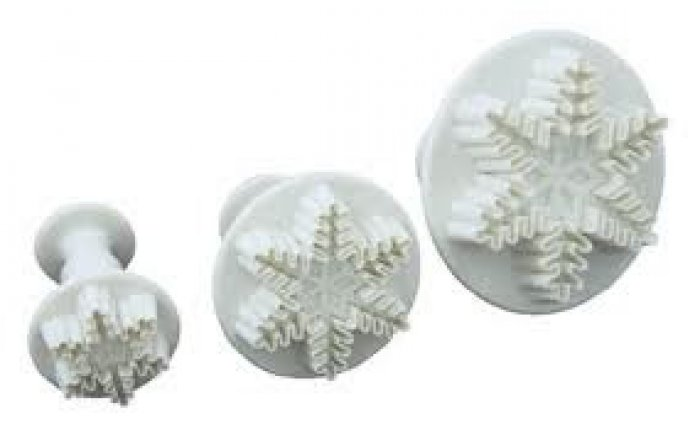 Snowflake Plunger Cutter Set 3