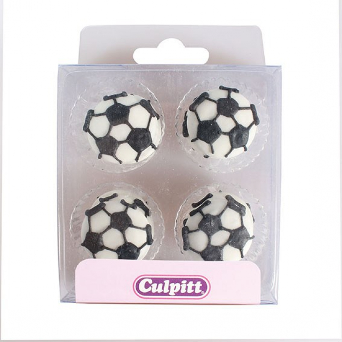 Soccer Ball Sugar Decorations (12)