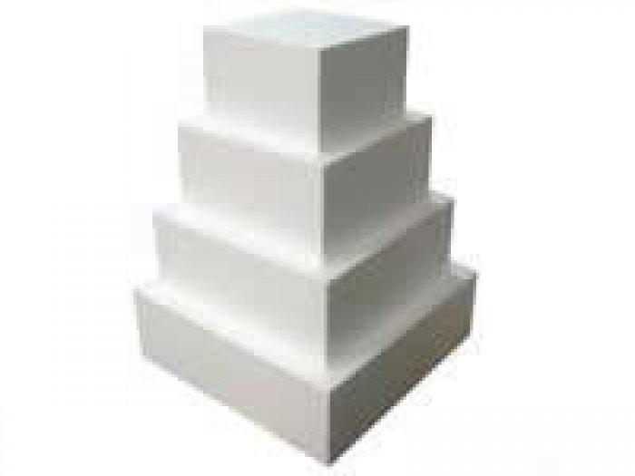 Polystyrene Dummy Cake 5 inch SQUARE 4 high