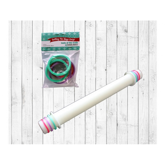 Sugar Crafty Rolling Pin Rings - LARGE