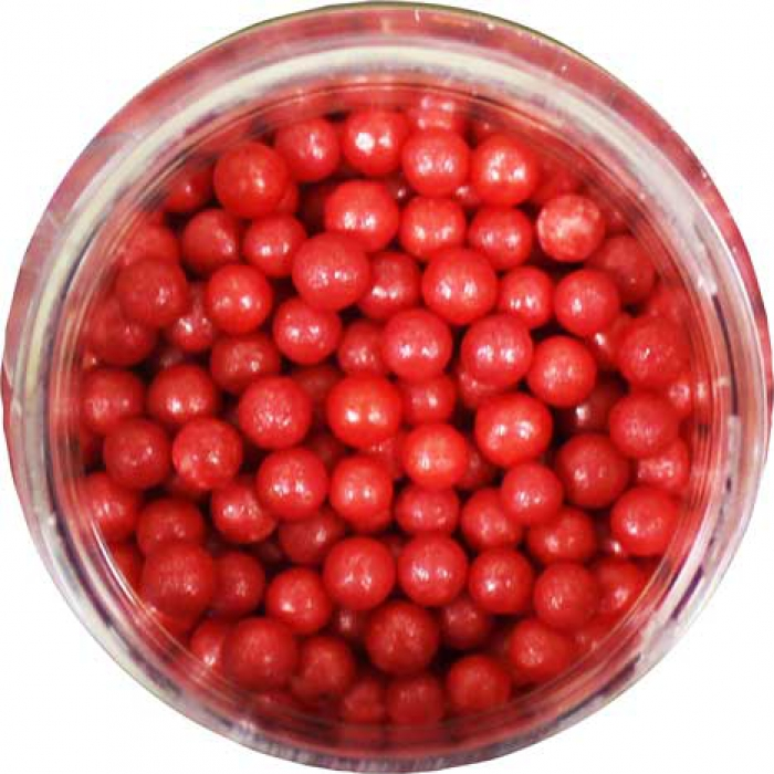 SUGAR PEARLS 3 - 4mm - Red - 113g Bottle