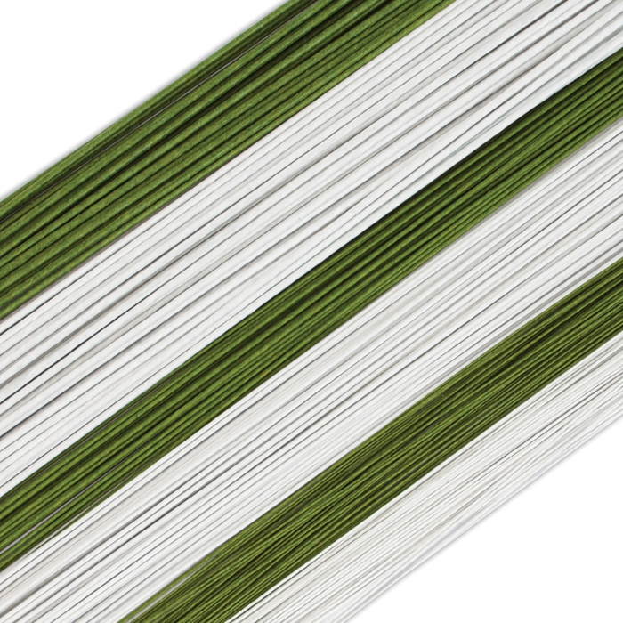 Sunrise Floral Wires WHITE 22 gauge 25 PACK